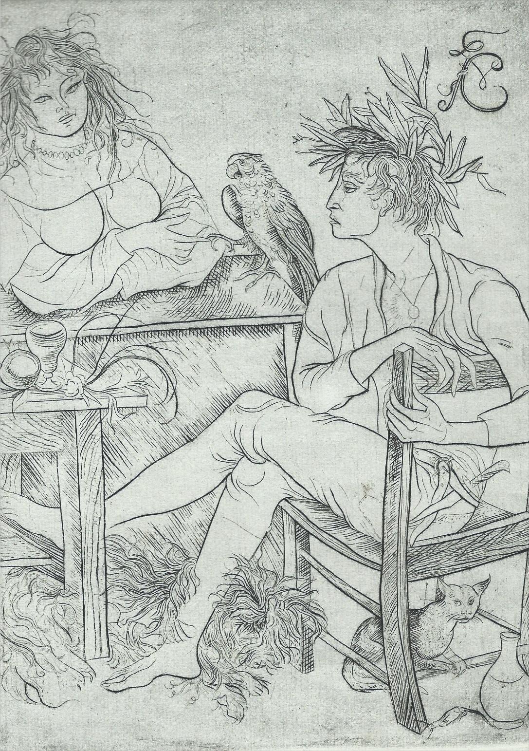 Grabado de Villon por Federico Cantú