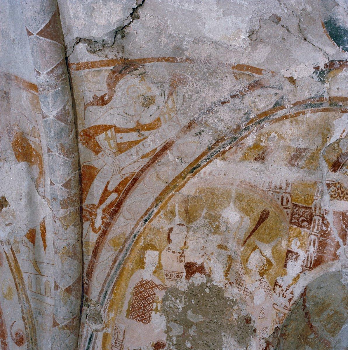 File interieur koor oostelijke deel apsis noordelijke gewelfaanzet a ron en boogveld - Noordelijke deel ...