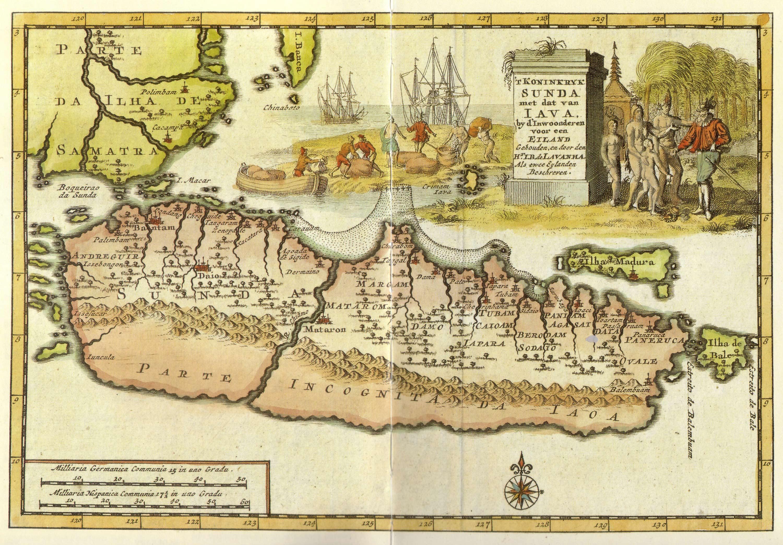 Голландская карта северного побережья острова Ява начала 18-го века