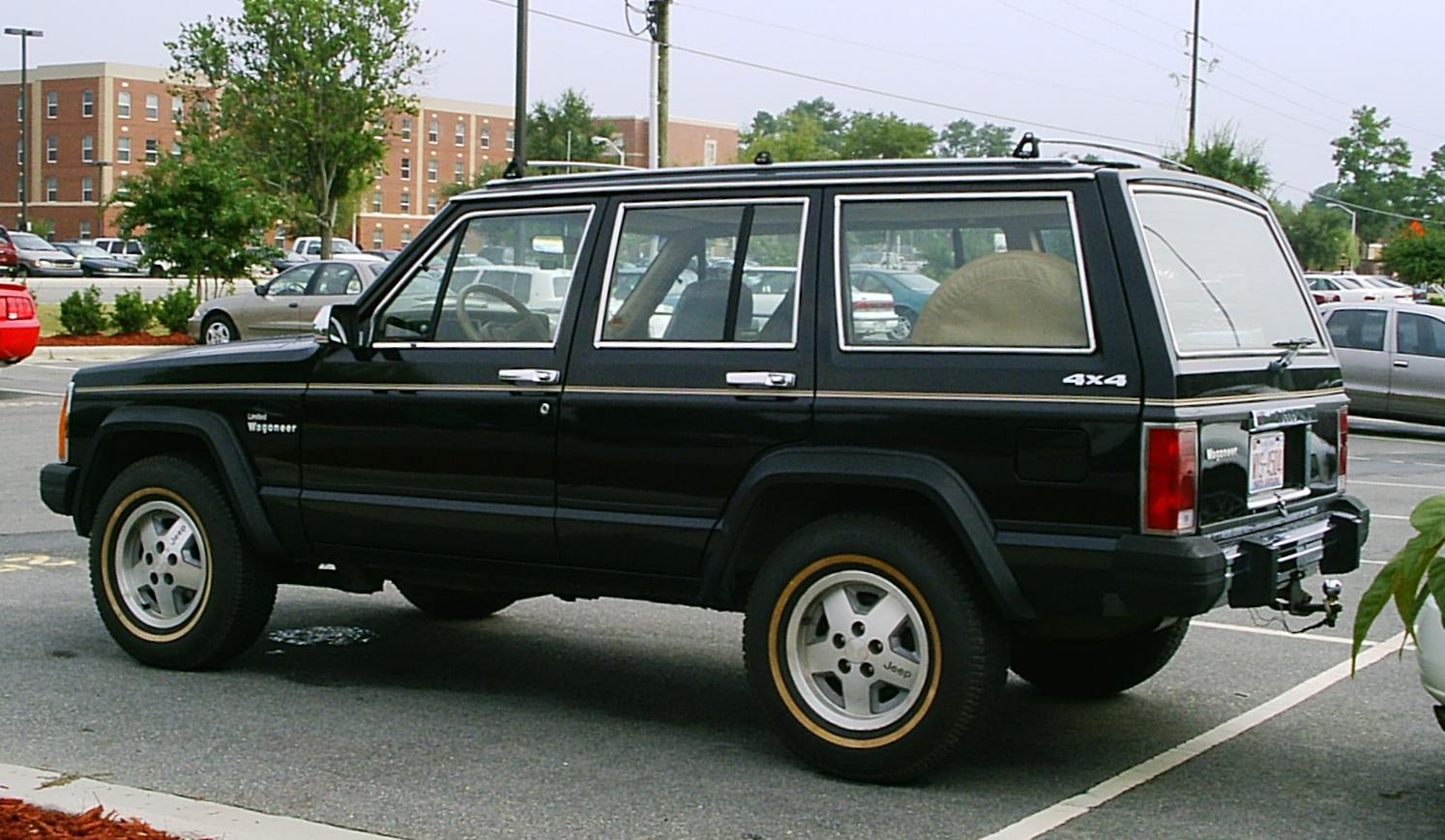 2007 Jeep Grand Cherokee Laredo >> File:Jeep (XJ) Wagoneer Limited black 2.jpg - Wikimedia Commons