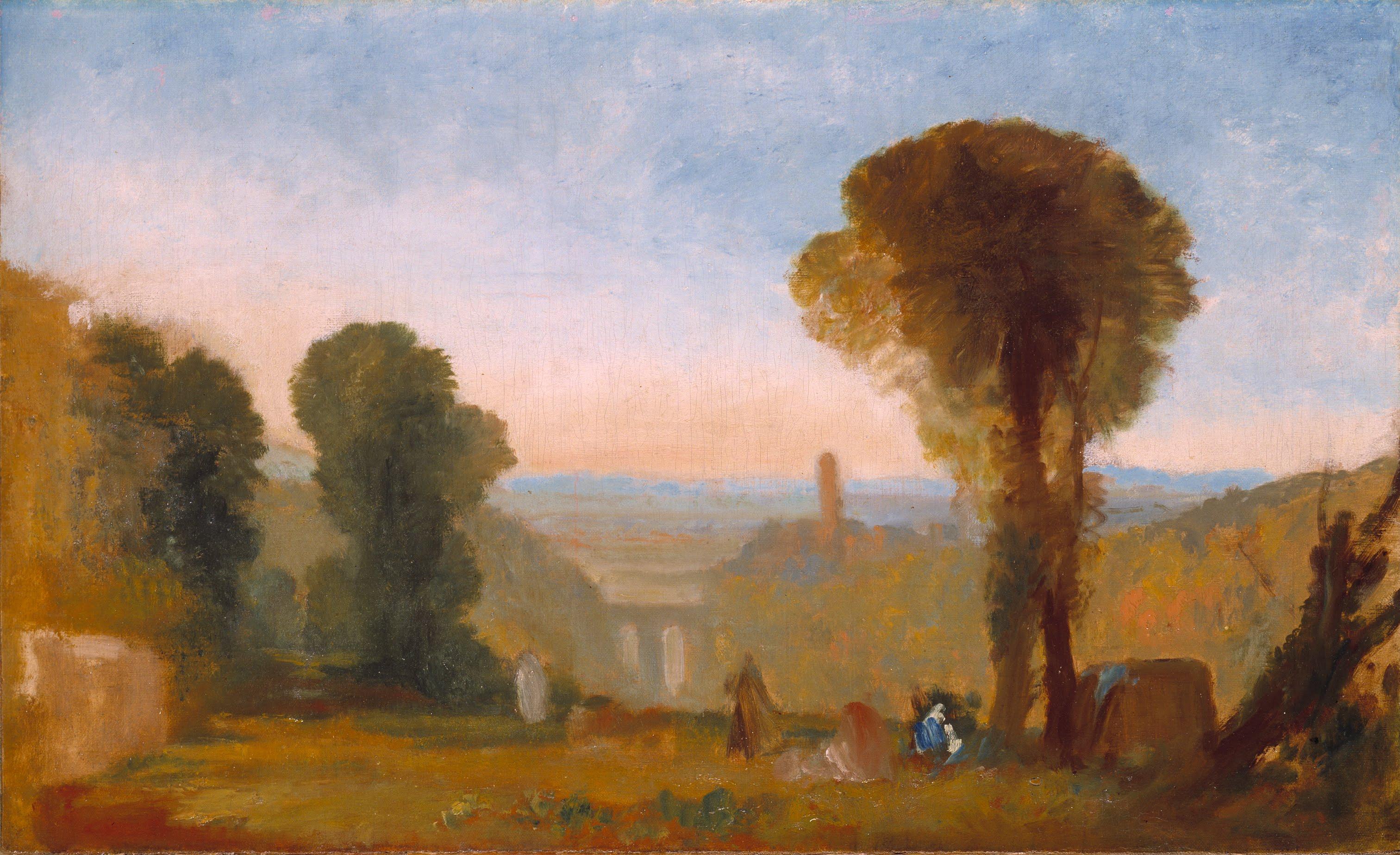File:Joseph Mallord William Turner   Italian Landscape With Bridge And  Tower   Google Art