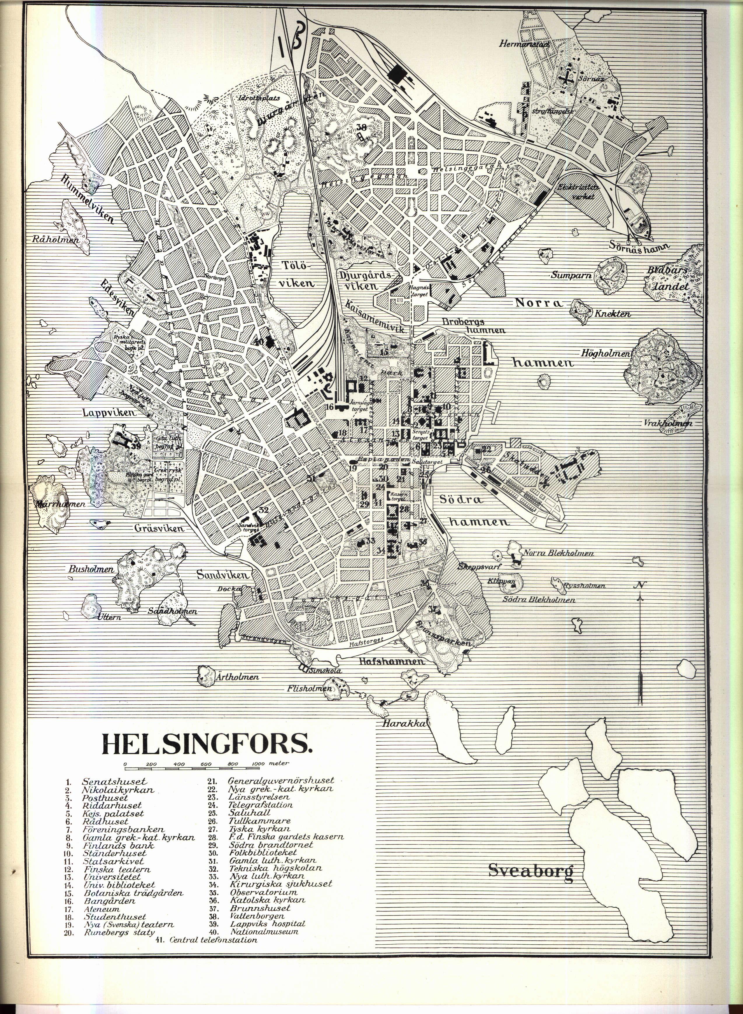 File Karta Over Helsingfors Vid 1900 Talets Borjan Ur Nordisk