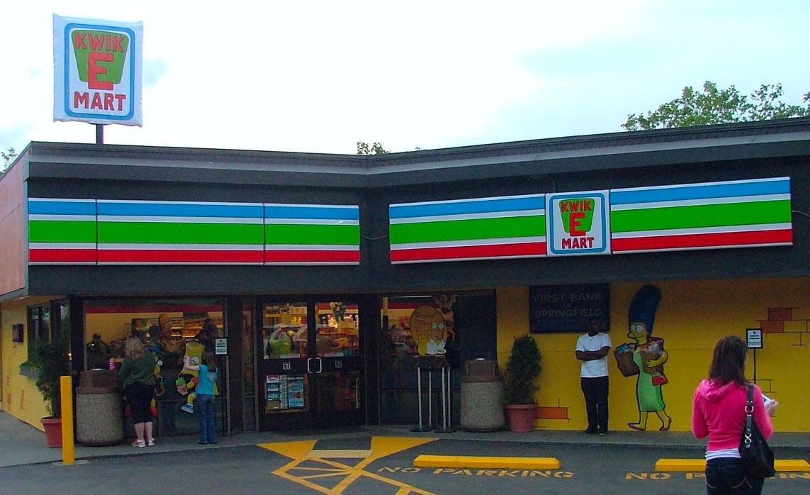 Ein 7-Eleven im Kwik-E-Mart-Design