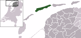Location of West-Terschelling