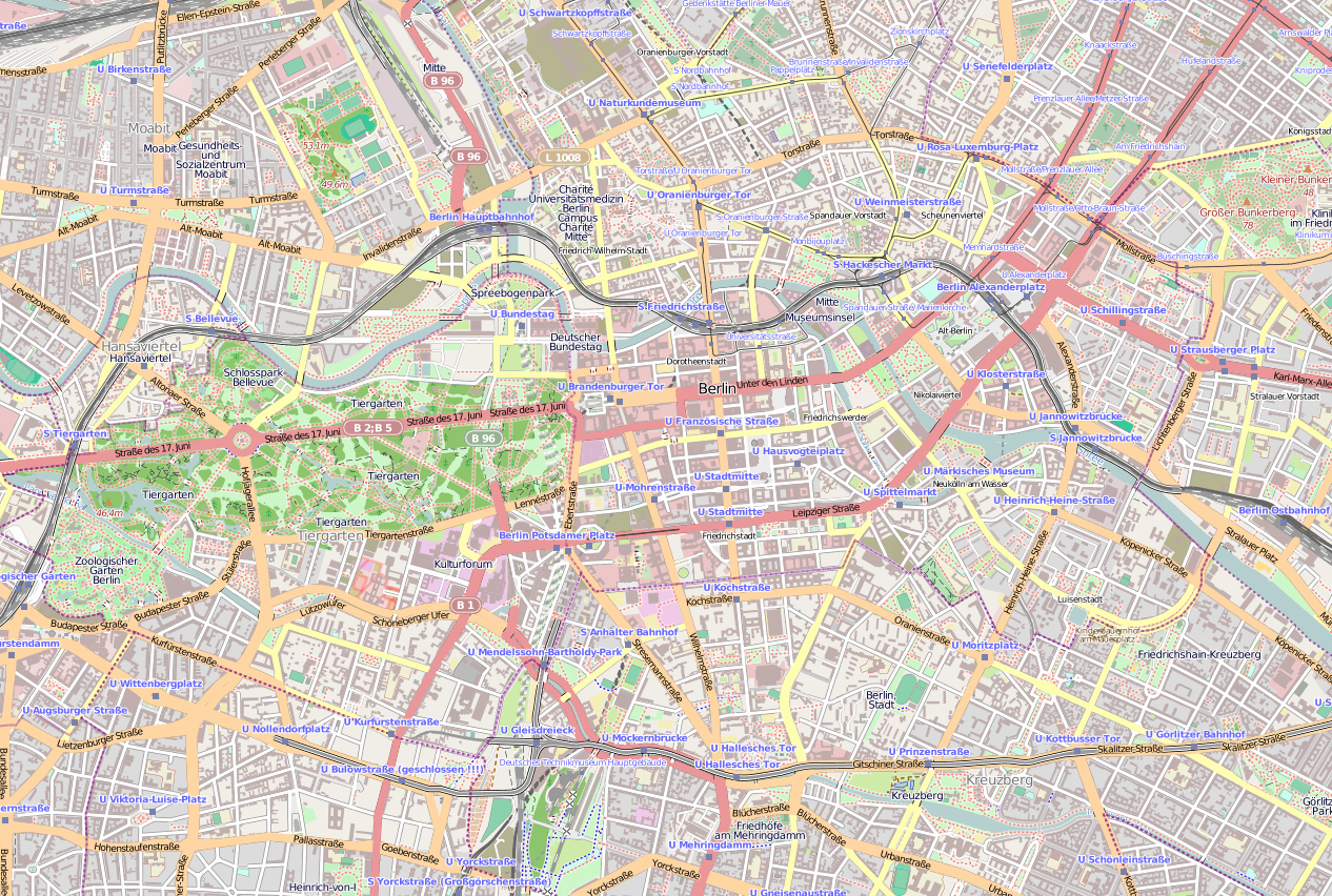 Berlin map – Tourist Map of Berlin
