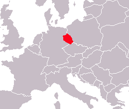 Geograhic location of Lusatia