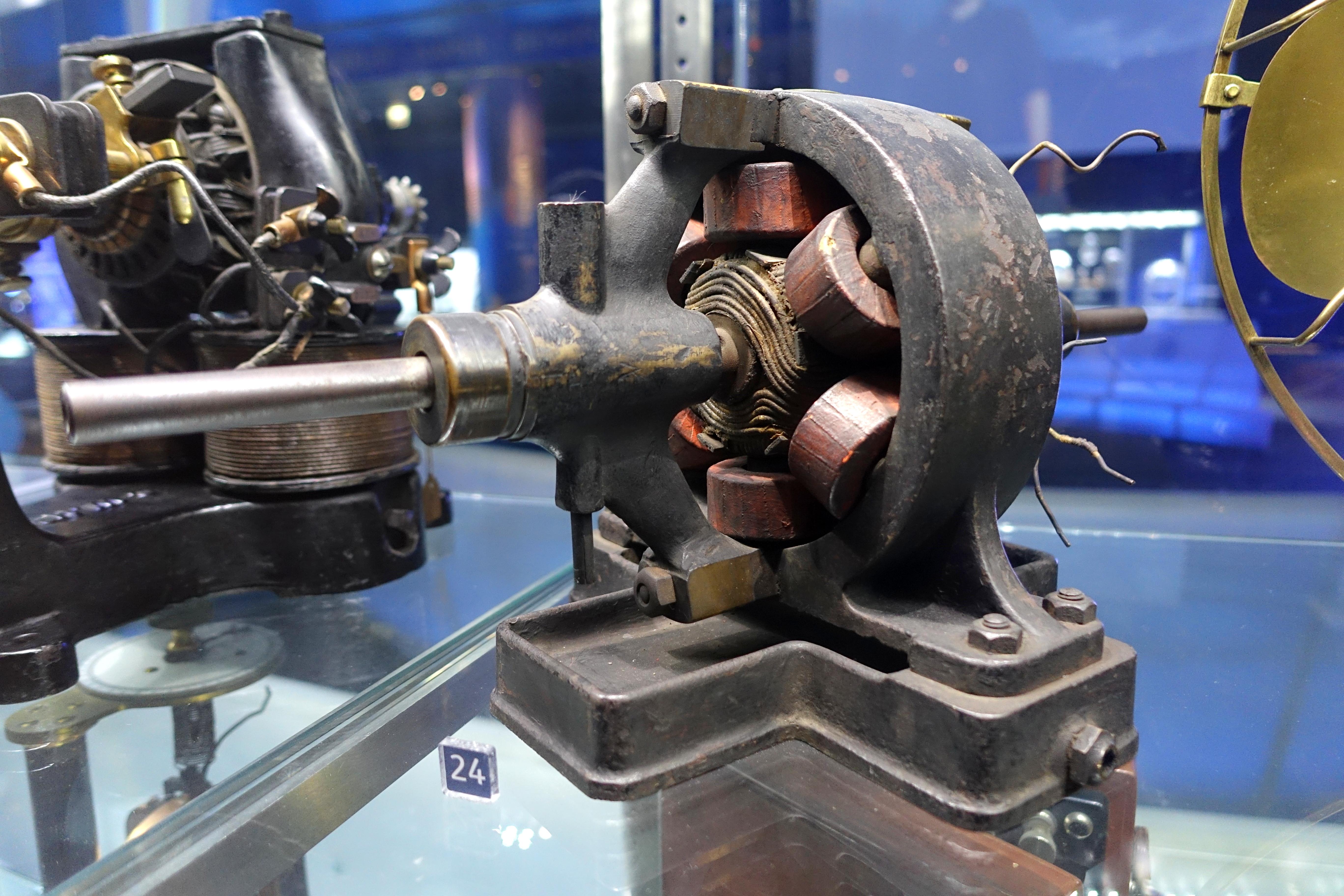 File M89 Tesla Motor C 1895 An Early Prototype Ac Motor