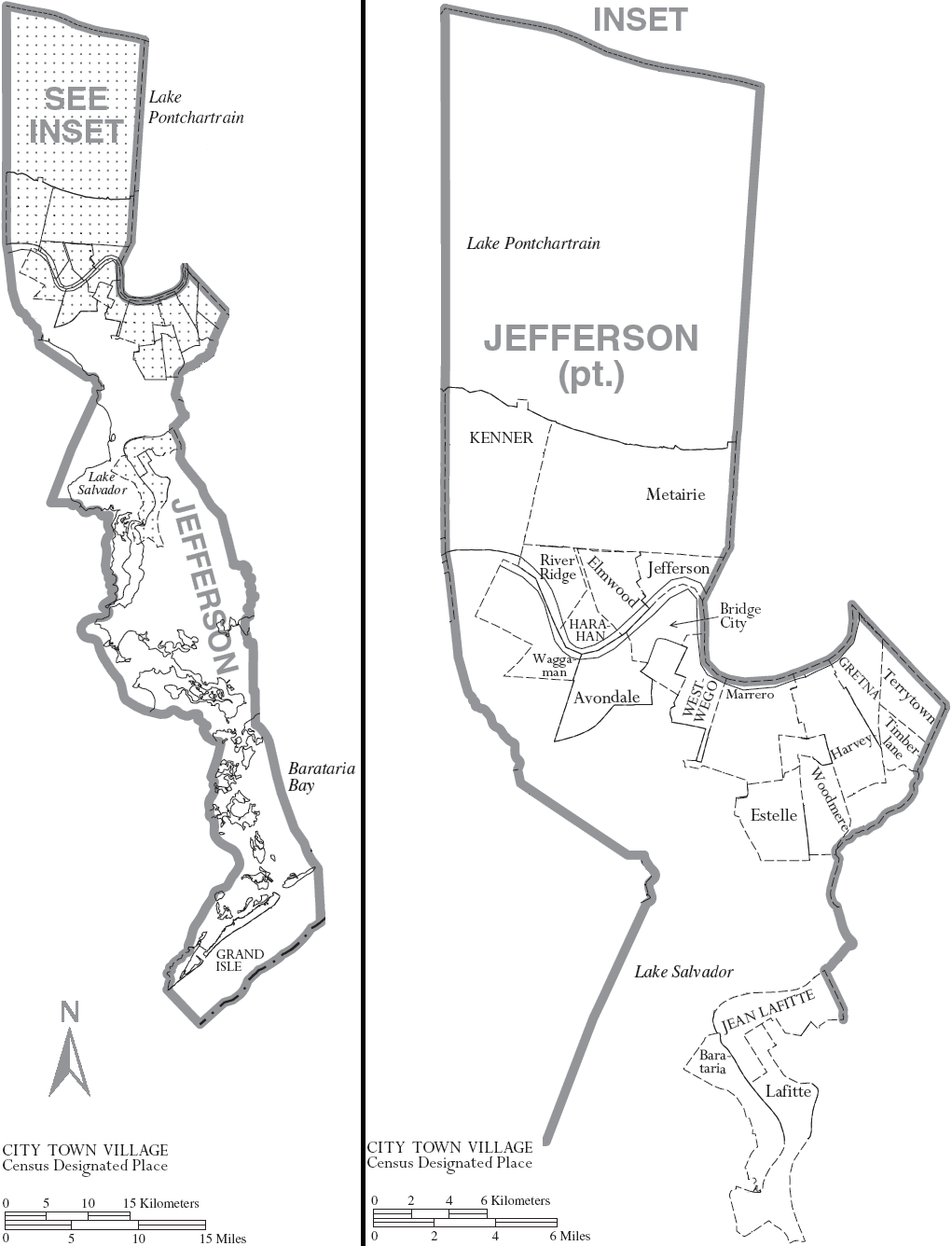 FileMap of Jefferson Parish Louisiana With Municipal LabelsPNG