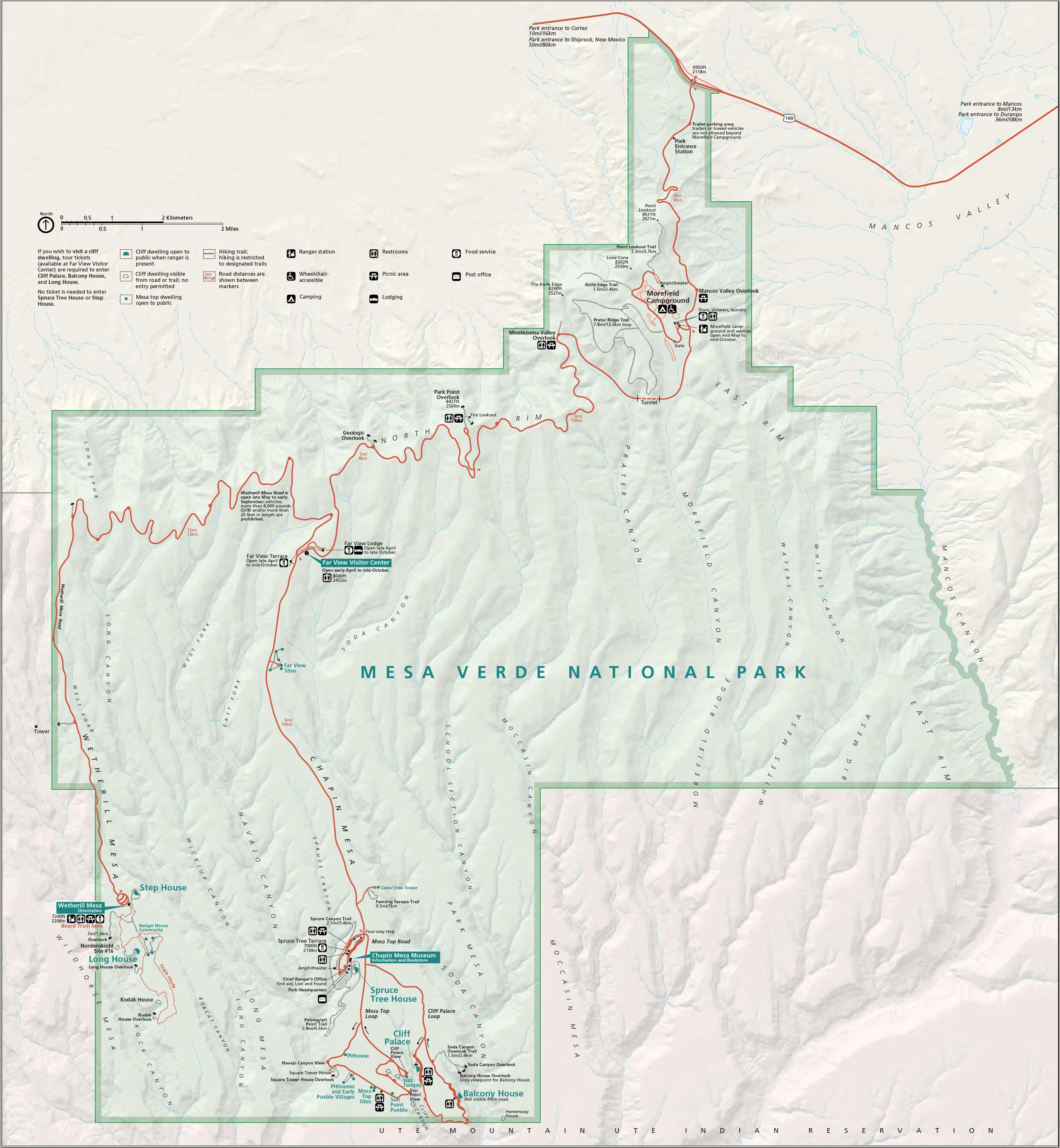 Mesa Verde National Park Map File:Map of Mesa Verde National Park.png   Wikimedia Commons