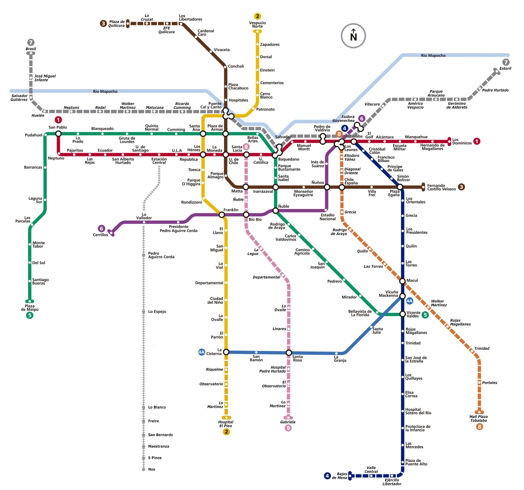 File Mapa Metro De Santiago Png Wikimedia Commons