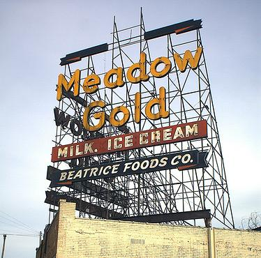 Meadow Gold sign, Route 66, Tulsa, Oklahoma