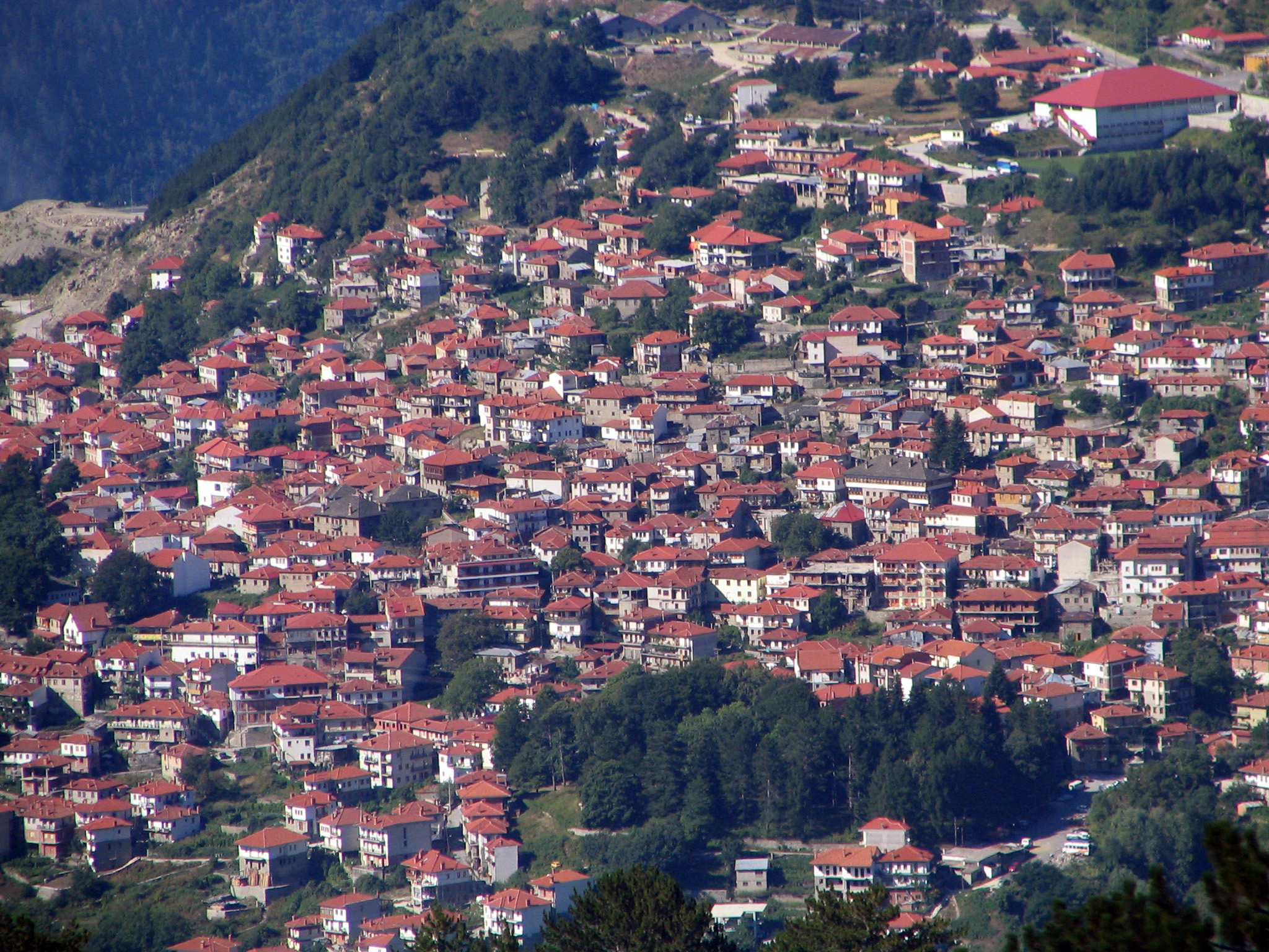Metsovo, a town in the Pindus Mountains, Greece