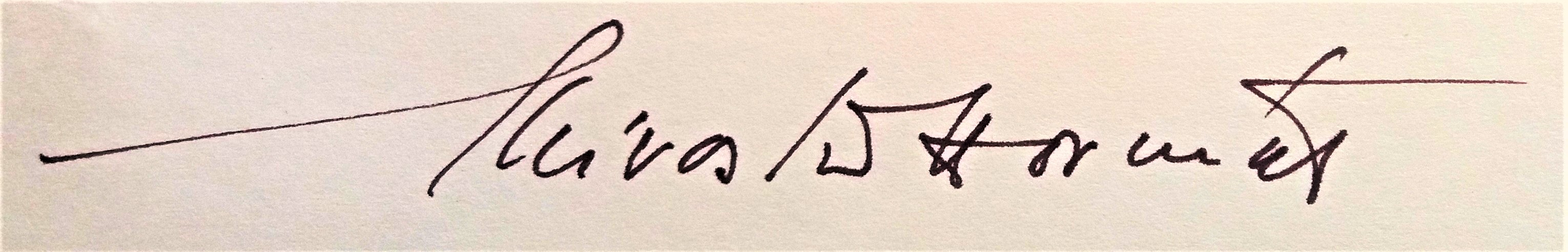 Signature of Miroslav Horníček, Czech actor (1993)