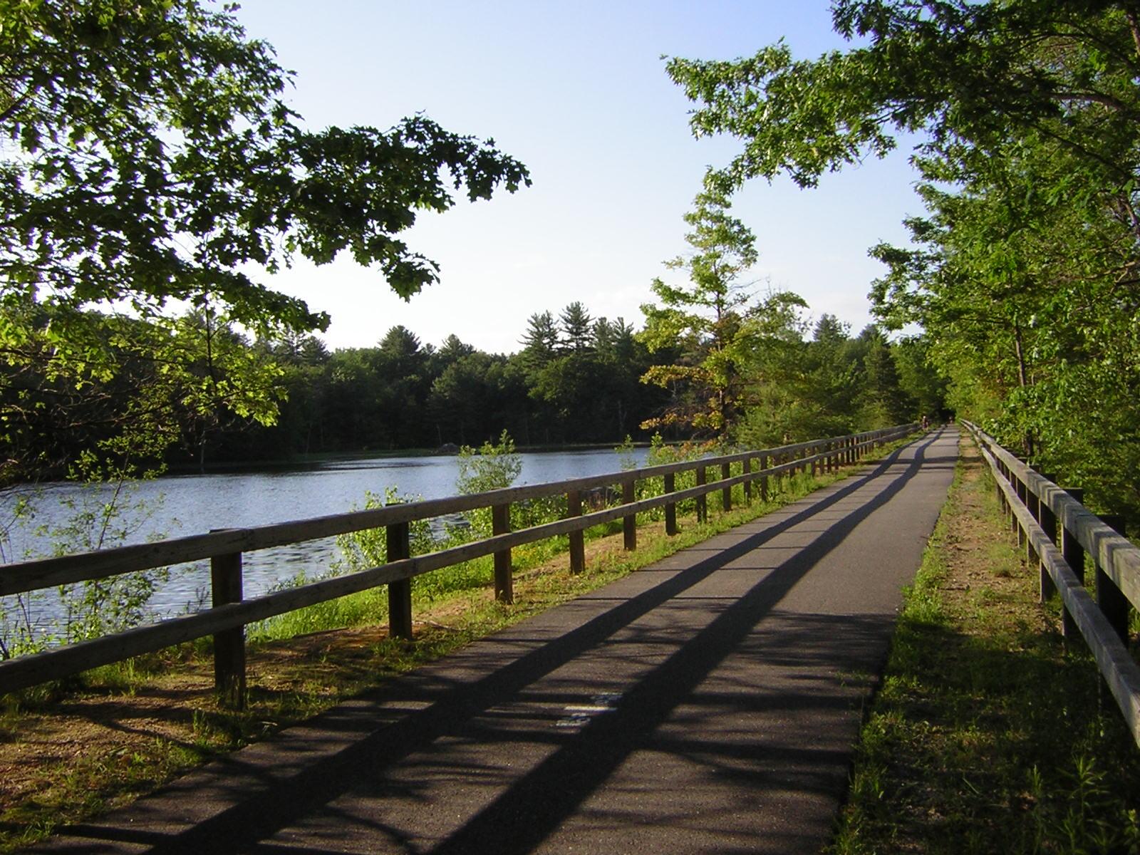 Bikes Nashua Nashua River Rail Trail