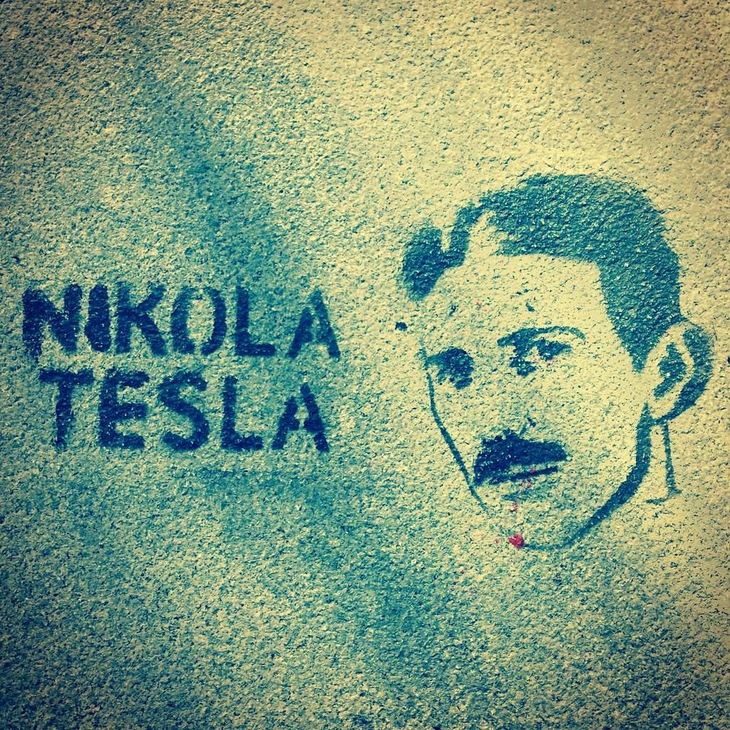 Nikola Tesla grafitti