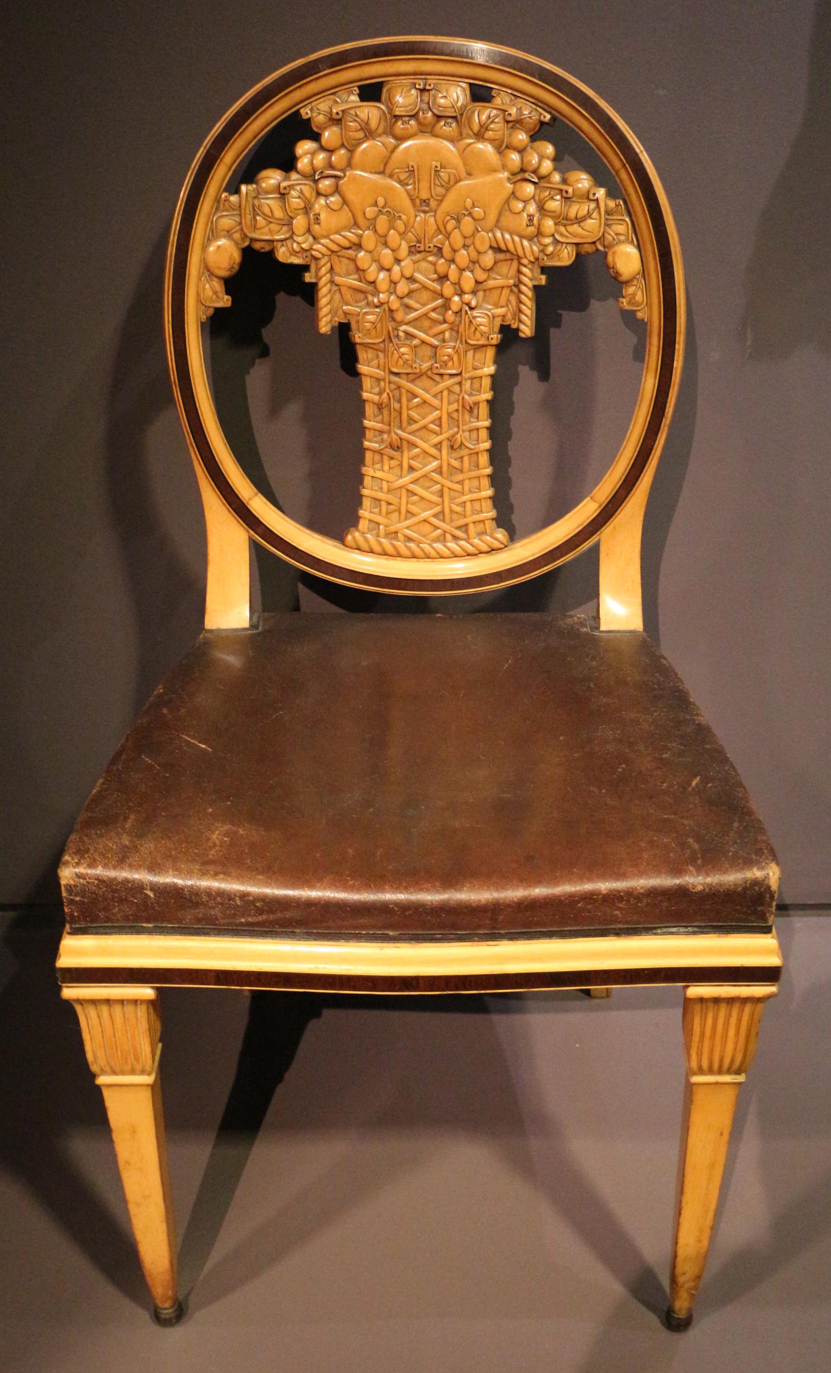 File paul follot coppia di sedie da sala da pranzo francia post 1912 01 jpg wikimedia commons - Sedie da sala da pranzo ...