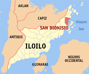 Map of Iloilo showing the location of San Dionisio
