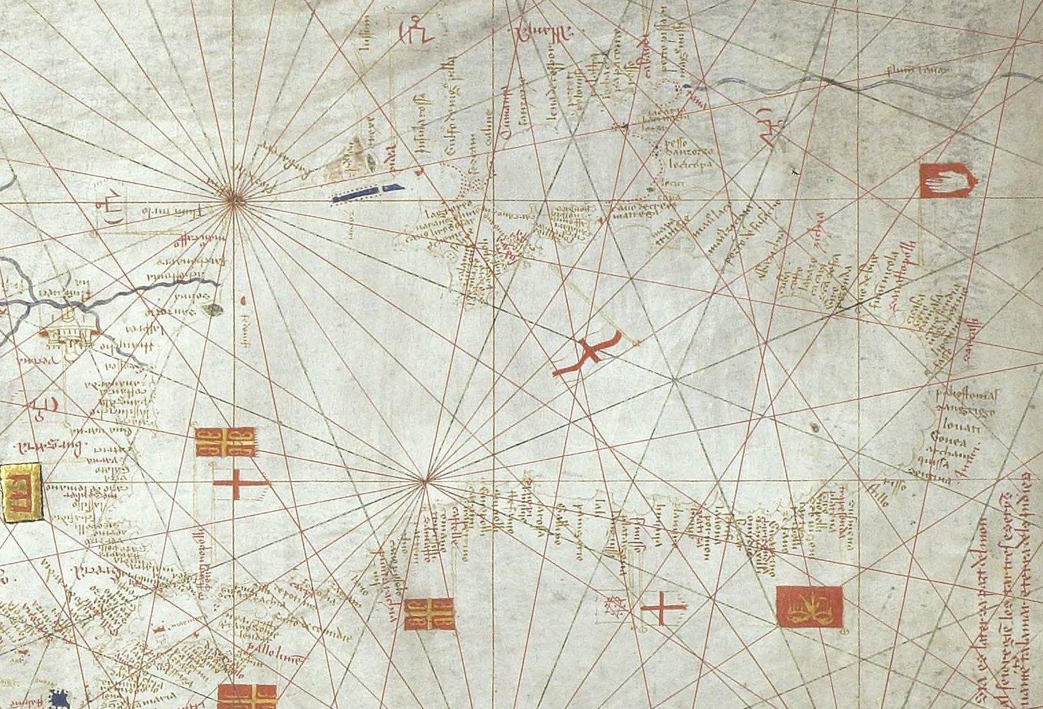 Sea Chart: Portolan chart of Guillem Soler (c.1380 Paris) Black Sea.jpg ,Chart