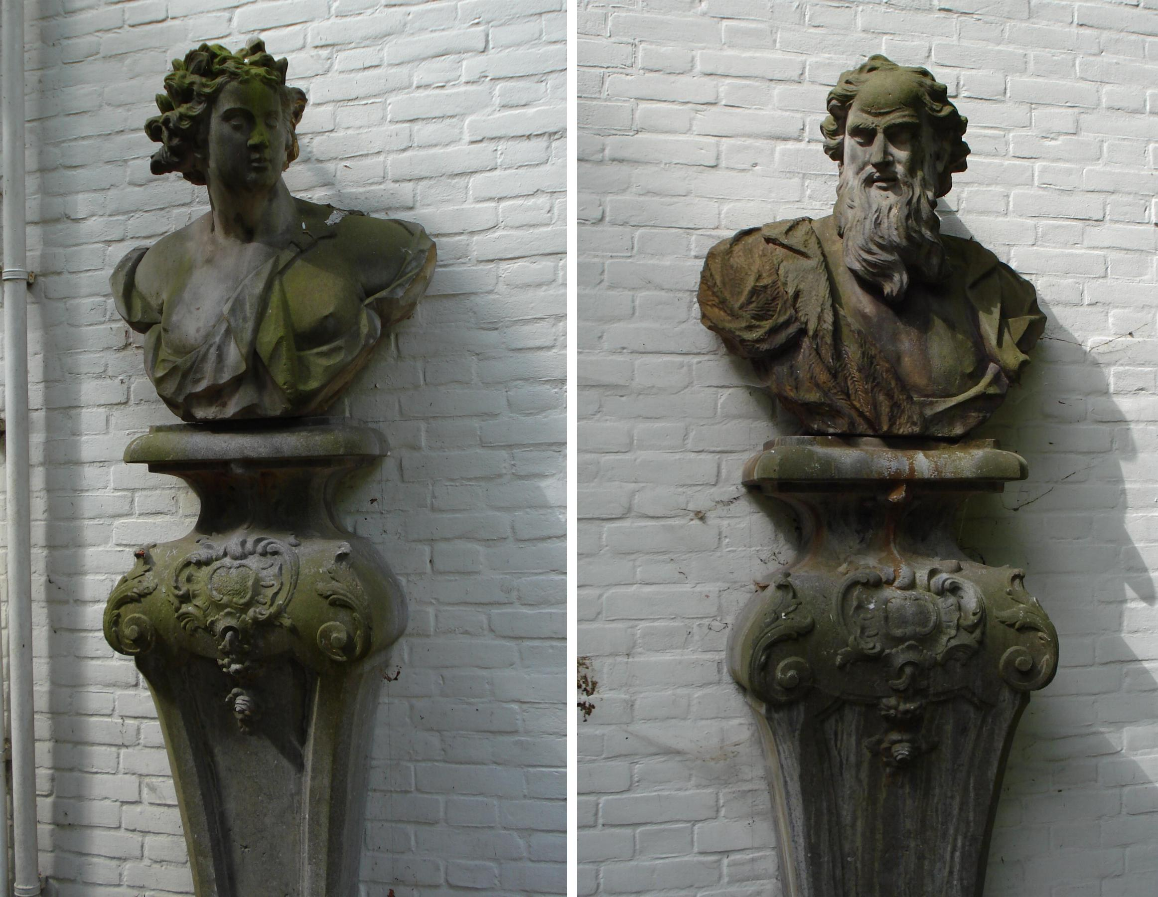 De tempel twee borstbeelden op sokkels in rotterdam monument - Garderobe stijl van lodewijk xv ...