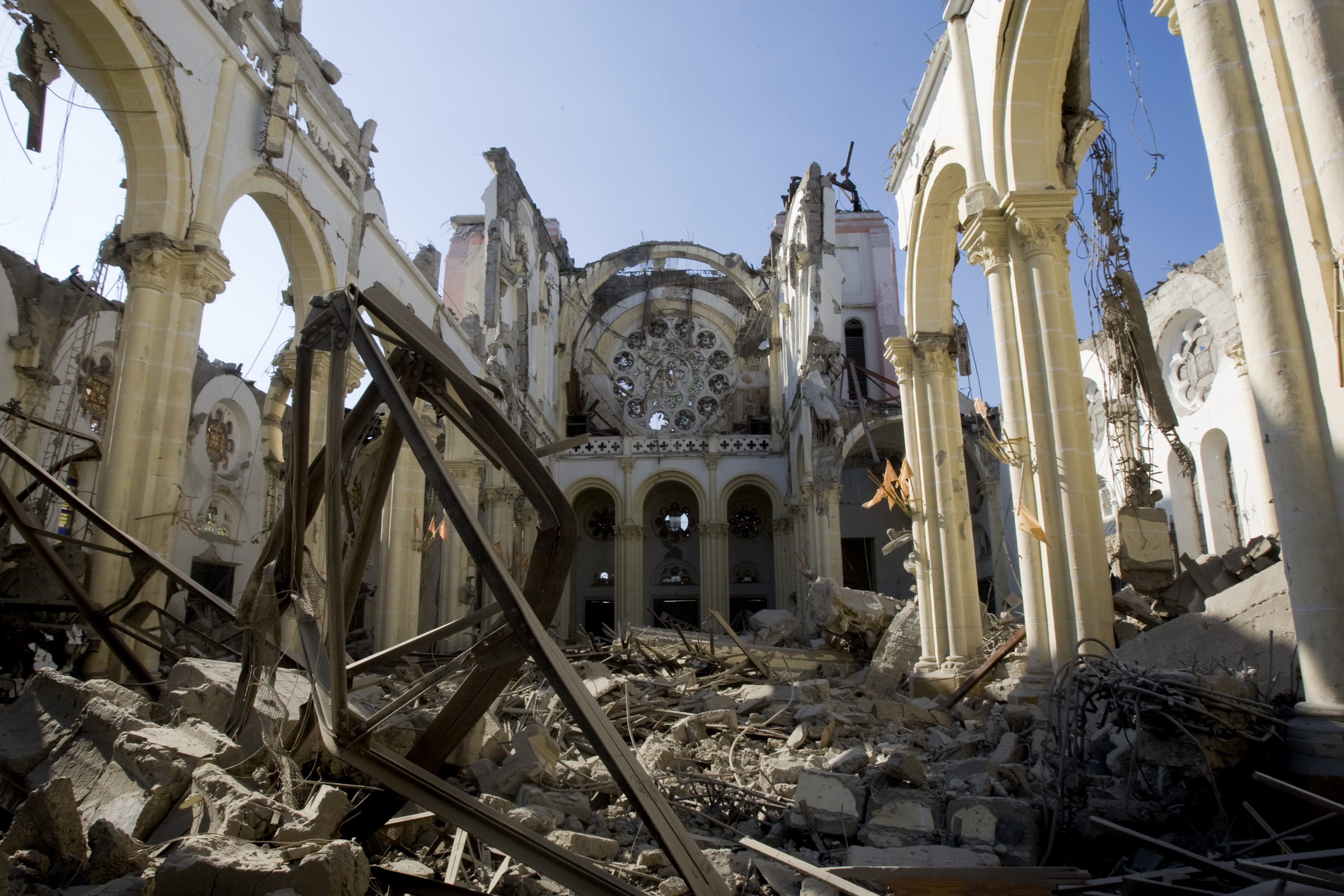 Image result for port au prince cathedral earthquake rubble