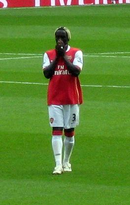 Bacary Sagna Sustained Broken Leg Injury
