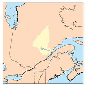 Marquette River river in Saguenay-Lac-Saint-Jean, Quebec, Canada