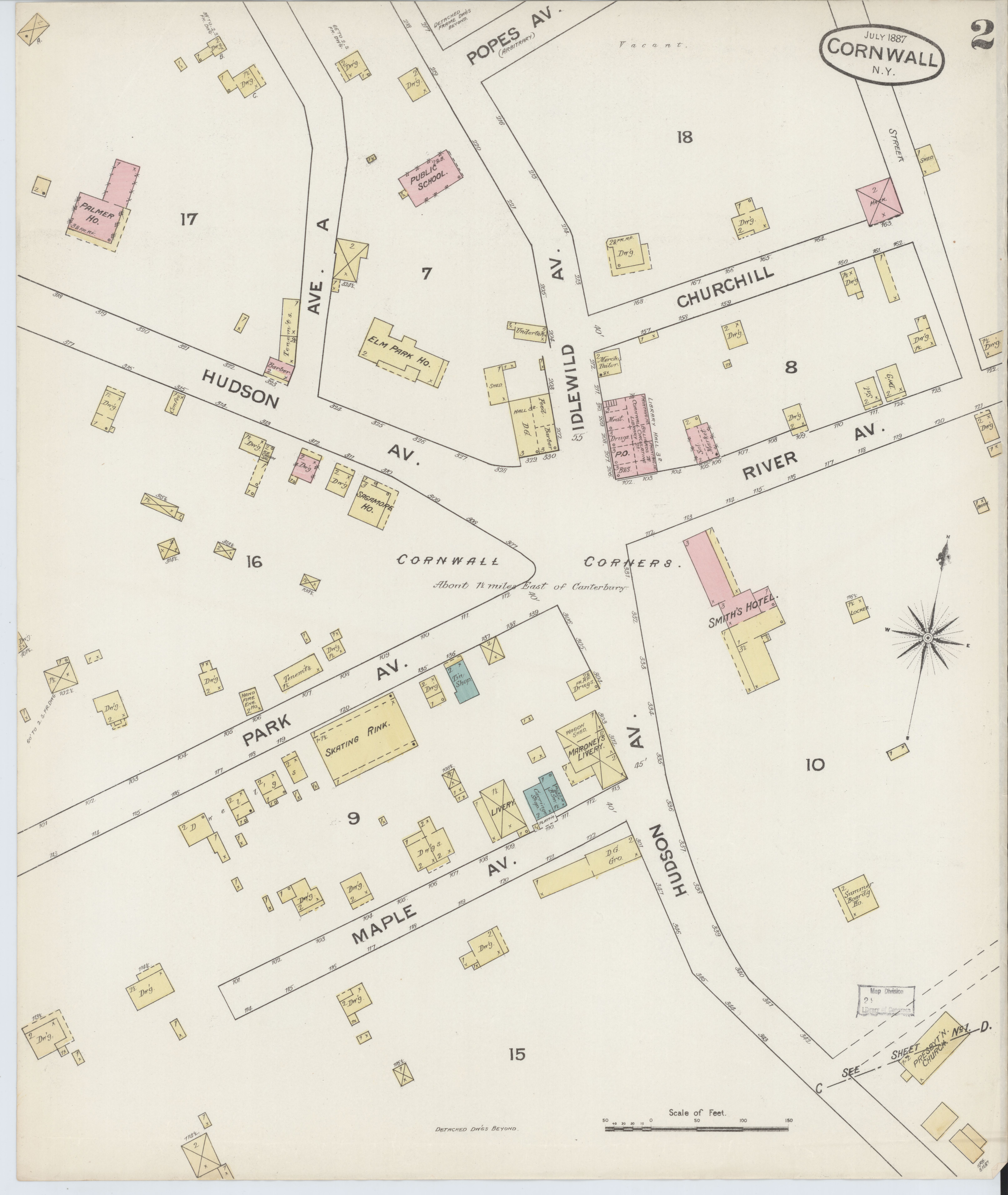 County Line 2 Fire Map.File Sanborn Fire Insurance Map From Cornwall Orange County New