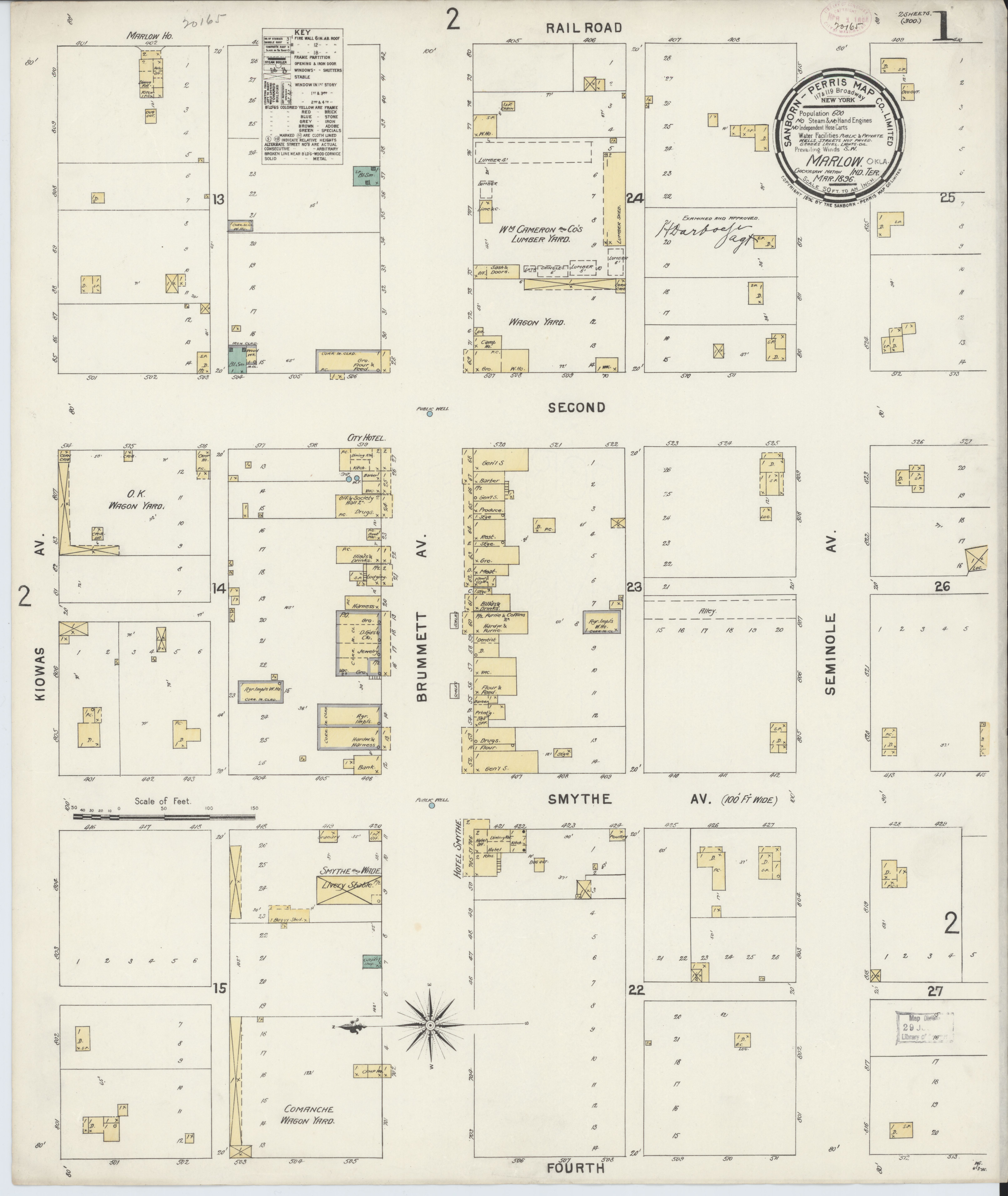 File Sanborn Fire Insurance Map From Marlow Stephens County