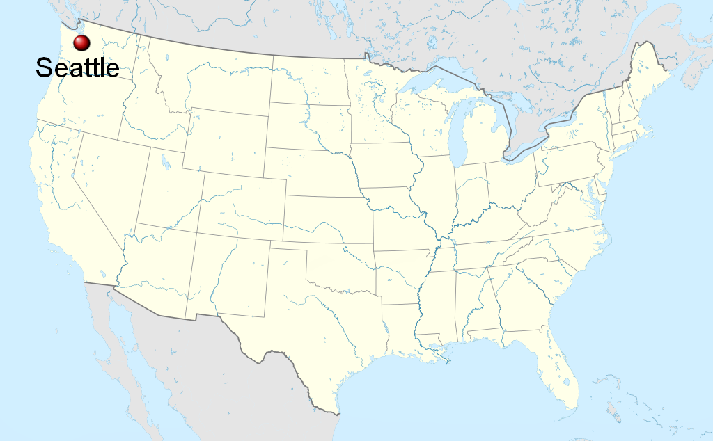 map of united states seattle File:Seattle on the map of the United States.png   Wikimedia Commons