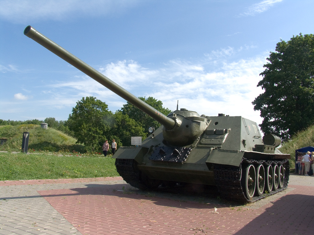Descrizione Self-propelled artillery in Brest Fortress.jpg