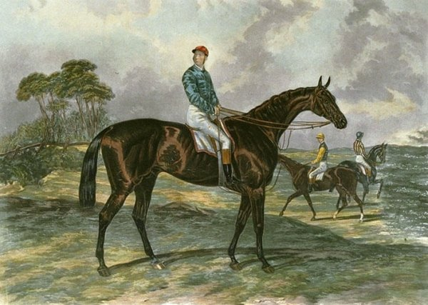 Engraving of 1879 Epsom Derby winner, Sir Bevys by D George Thompson after a work by James E Doyle Sir Bevys.jpg