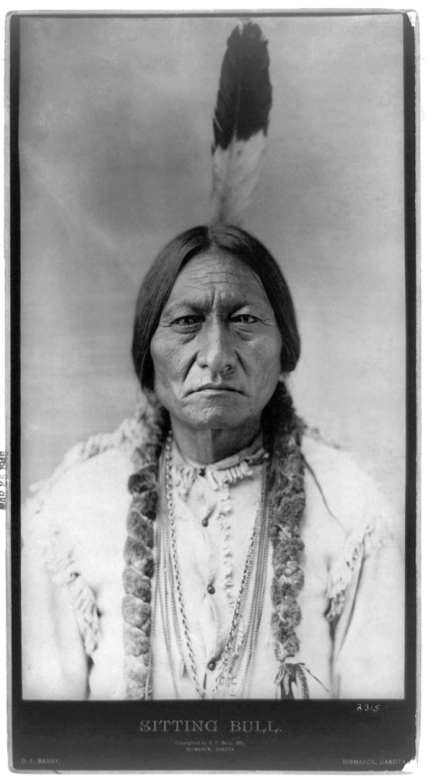 Sitting Bull in 1885 by D.F. Barry