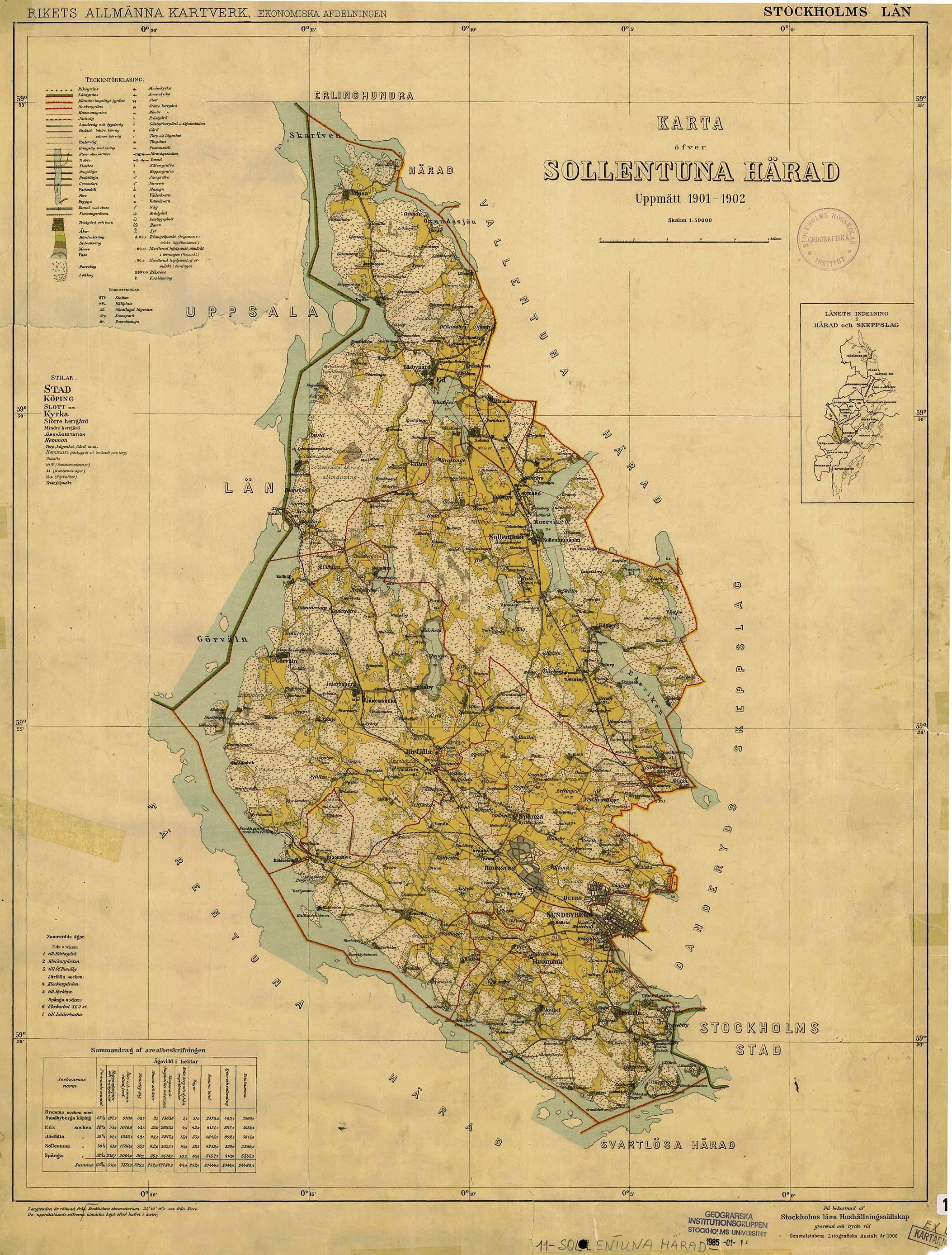File Sollentuna Harad 1901 Karta Jpg Wikimedia Commons