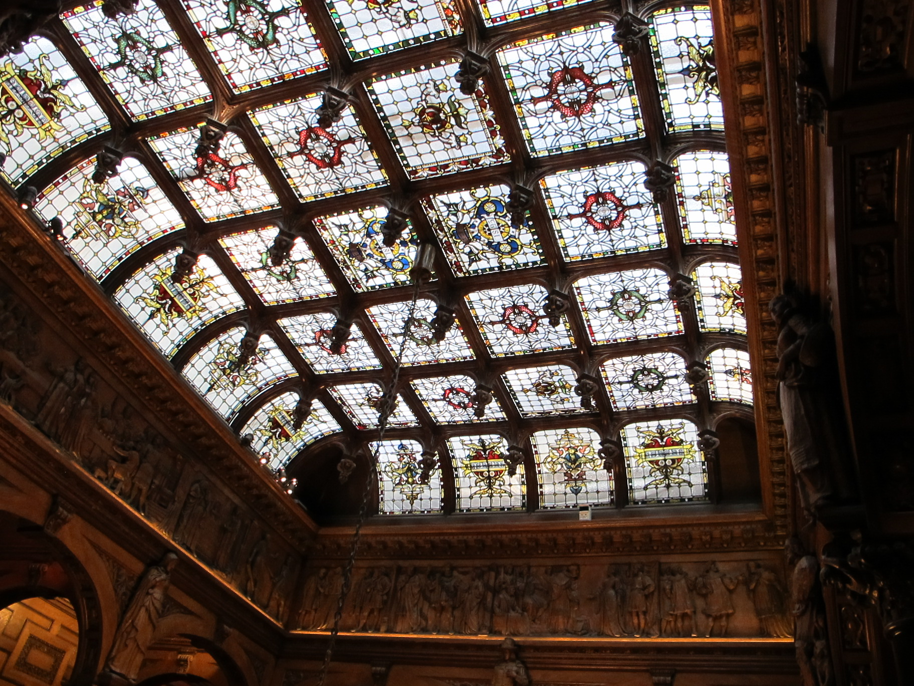 File Stained Glass Ceiling Two Temple Place London