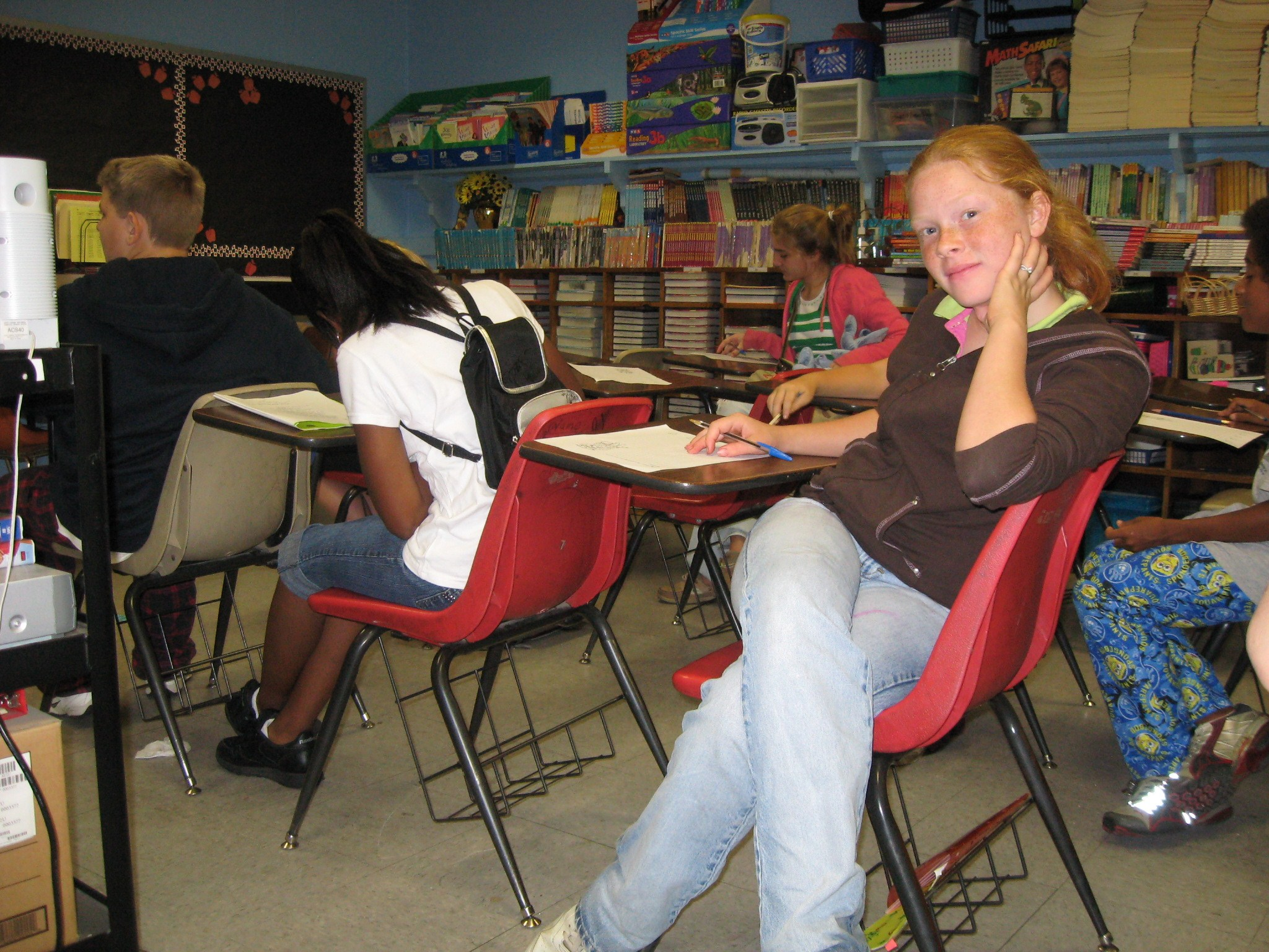 Students in an elementary school classroom, 2008