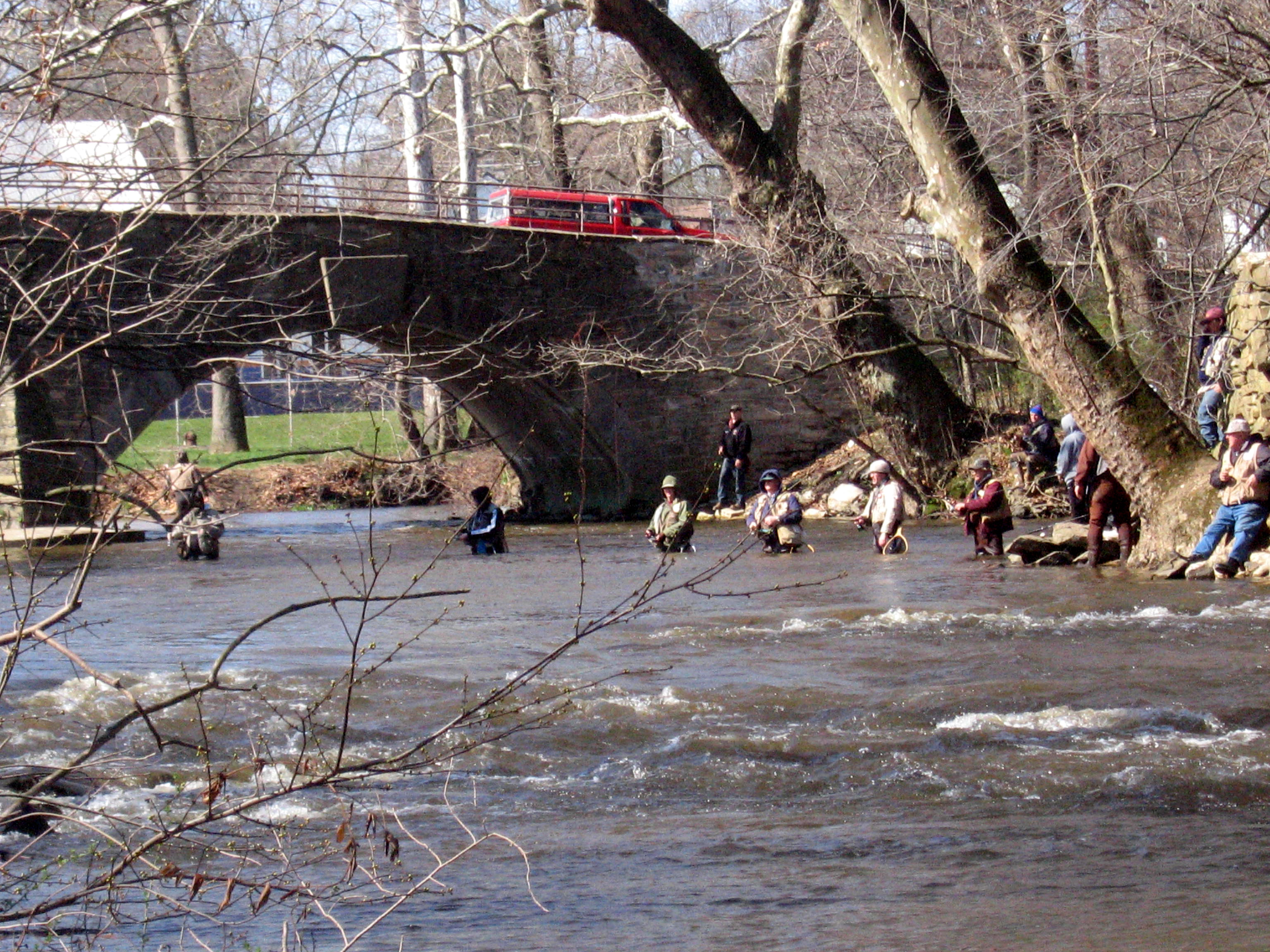 File:Trout Fishing, Yellow Breeches Creek, Boiling Springs ...