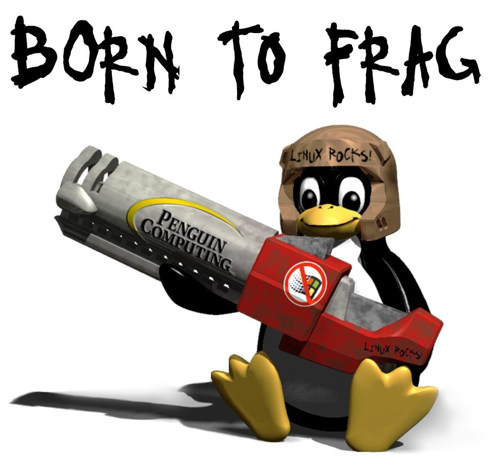 Tux Born to frag