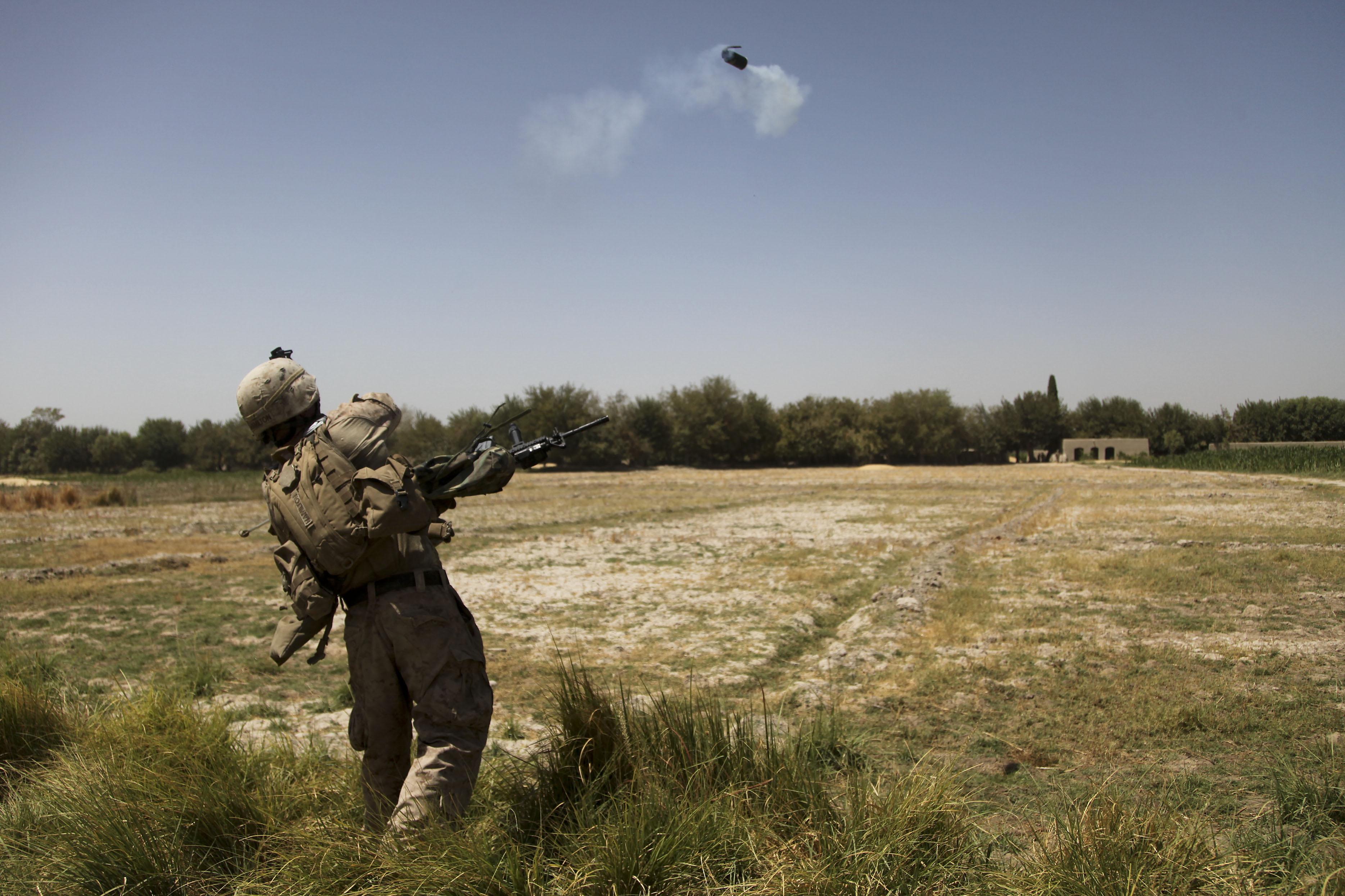 File:U.S. Marine Corps Lt. Joe Hamilton, an artillery officer ...