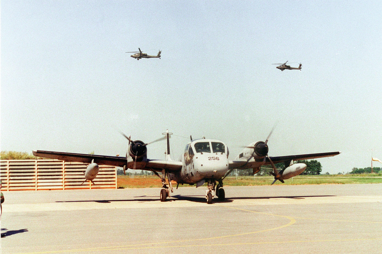 US Army OV-1D Mohawk taken for last flight 2