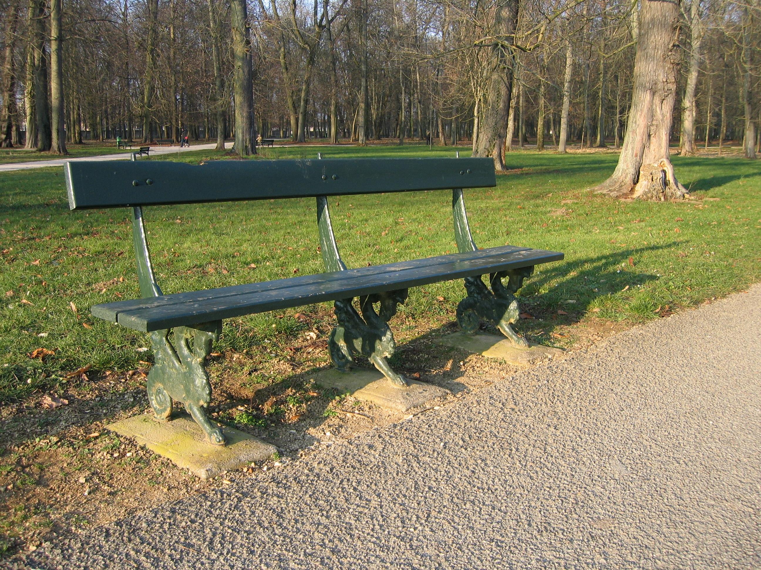 file un banc au parc de la colombi re dijon jpg wikimedia commons. Black Bedroom Furniture Sets. Home Design Ideas