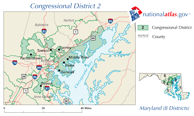 File:United States House of Representatives, Maryland District 2 map ...