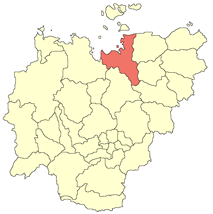 Ust-Jansky Ulus (distrito) no mapa