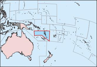 Map in Vanuatu