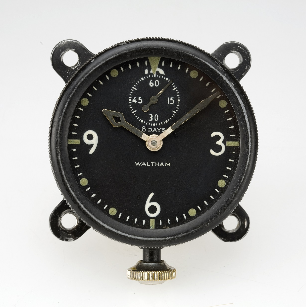 Waltham Watch XA 37 Type, Swiss Watch, Classic Design, Black Colour