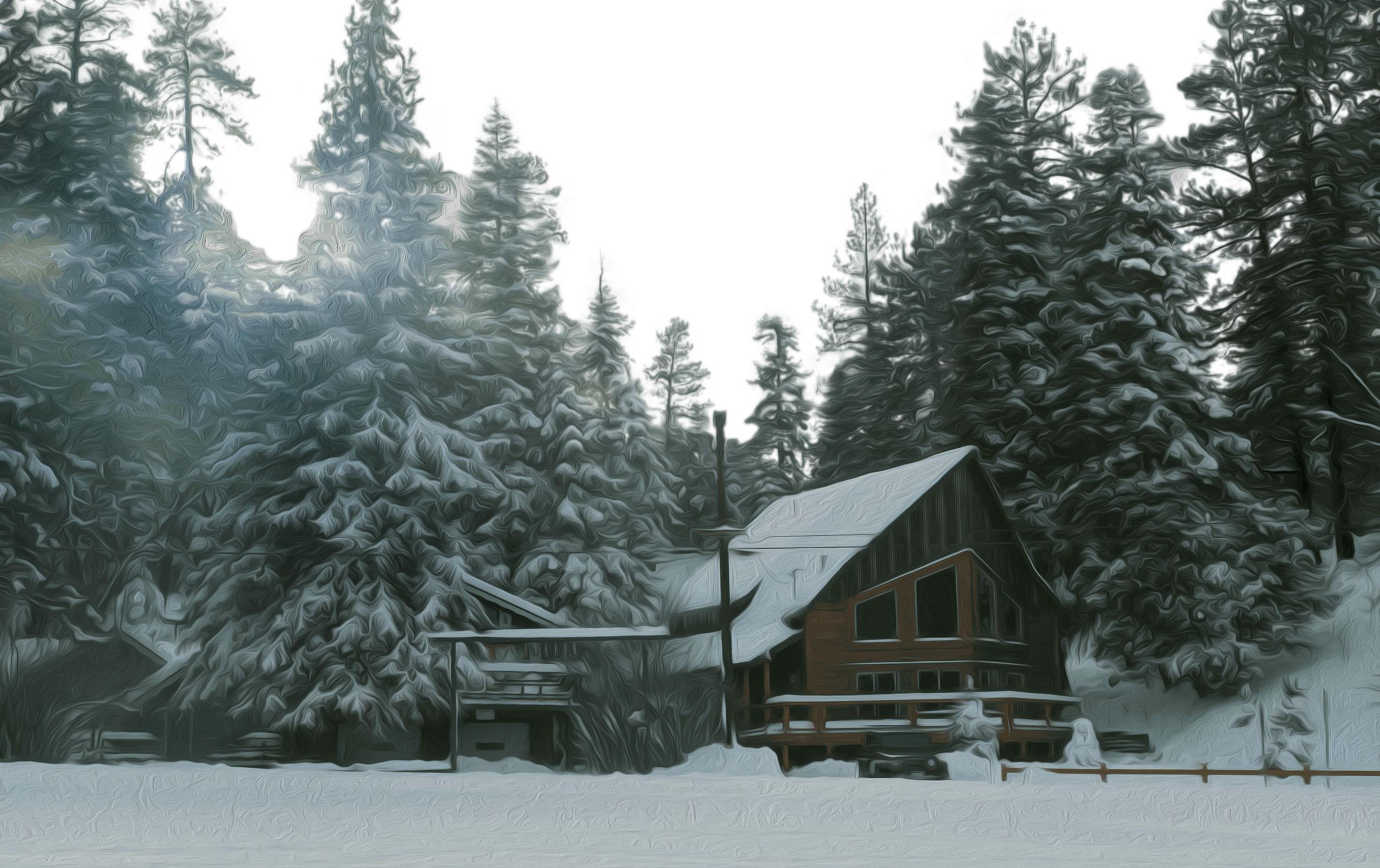 Image result for winter cabin