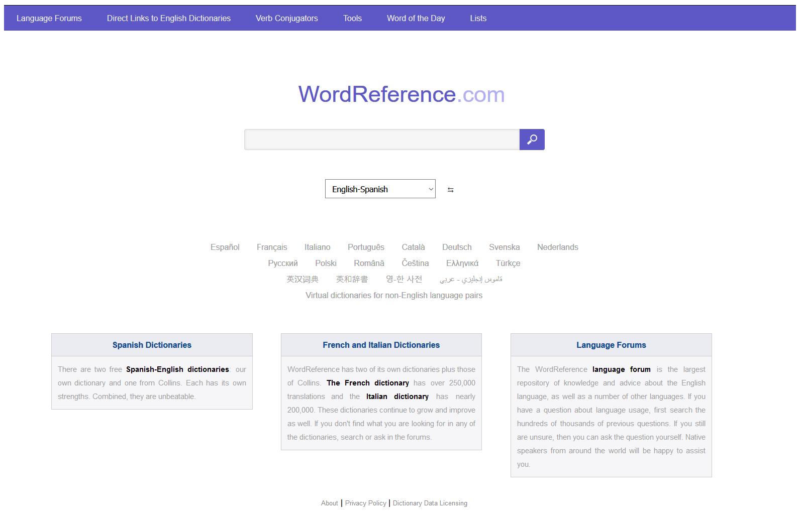 Foto de la aplicación Wordreference Dictionary