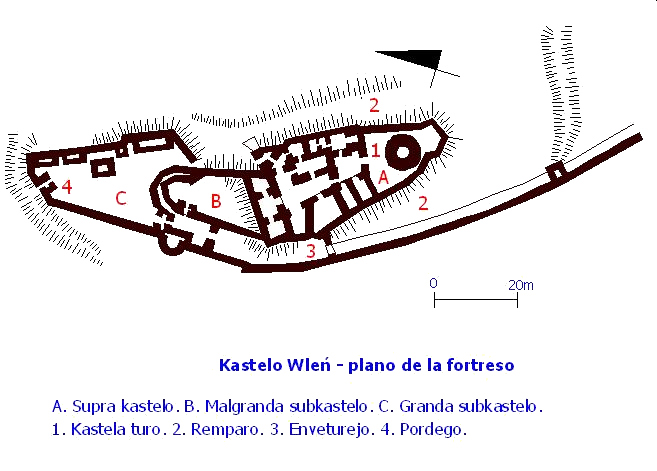 Zamek wleń plan