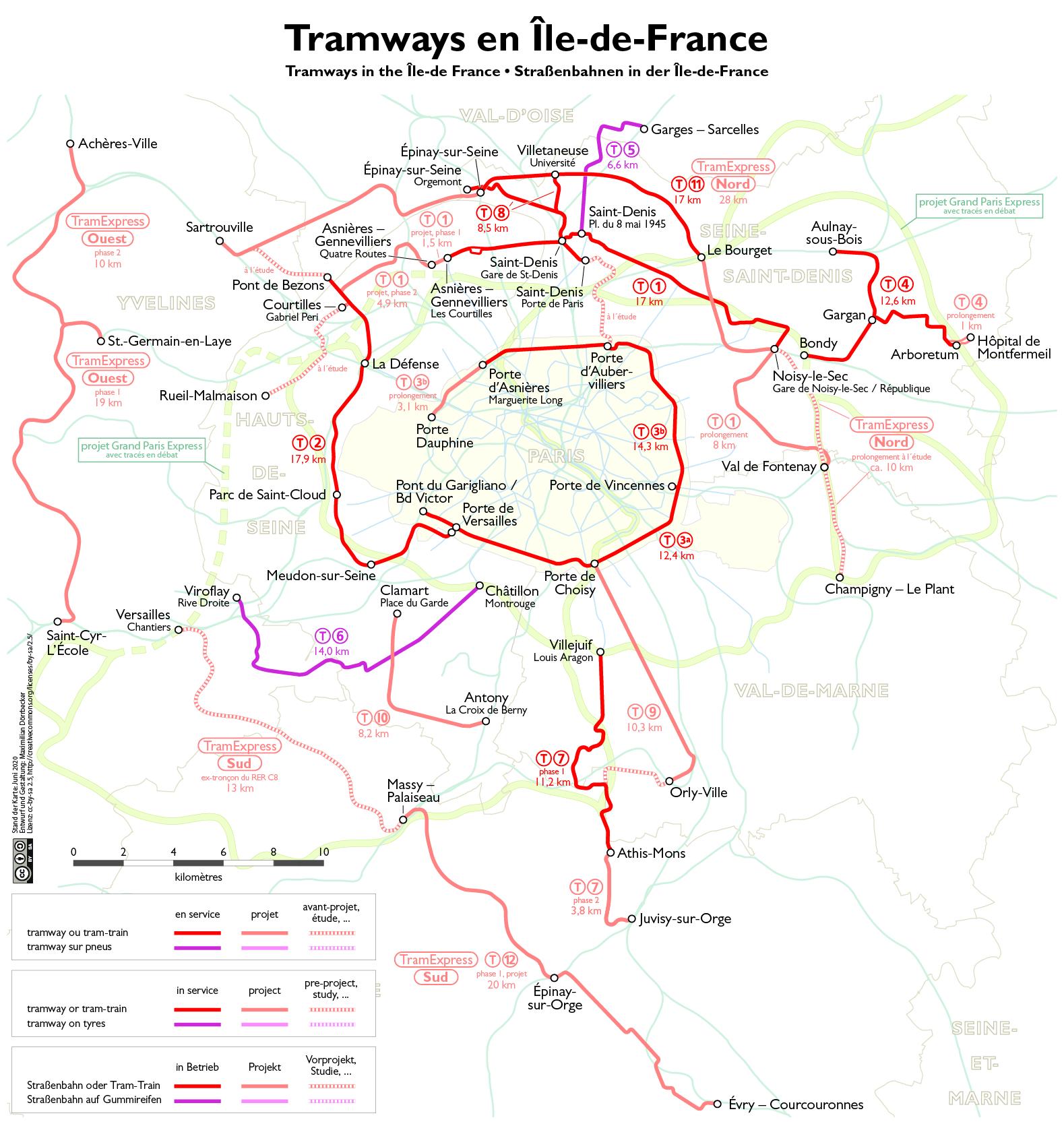 во франции схема метро и rer парижа с зонами