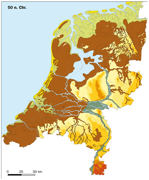 The region of the Netherlands in the 1st century CE