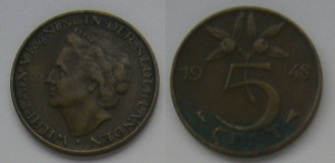 Five cent coin (Netherlands)